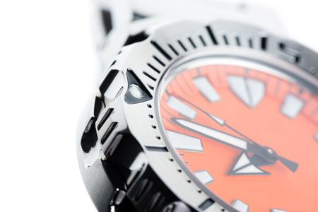 bezel: closeup marker on bezel of dive watch