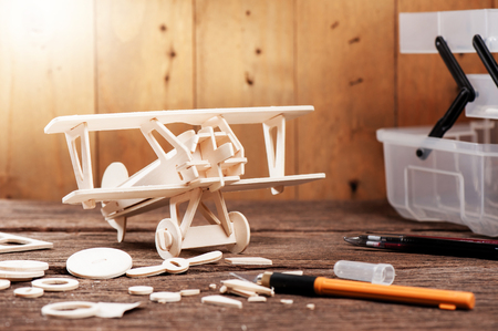 Balsa wood model airplane kits