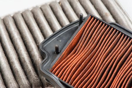 closeup dirty vehicles air filter