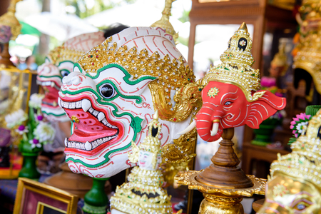 khon: Hua Khon or Khon mask, part of the costume of performers of Thai traditional dance.