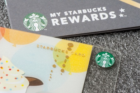 BANGKOK, THAILAND - JANUARY 27, 2016: The Starbucks card in Thailand.