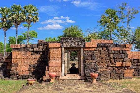Prang Ku or Prasat Nong Ku(Nong Ku Castle) in Roi-et province,Thailand Editorial