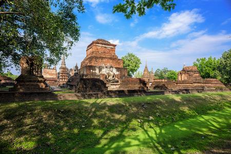 Wat Mahathat at Sukhothai historical park in Sukhothai, Thailand.