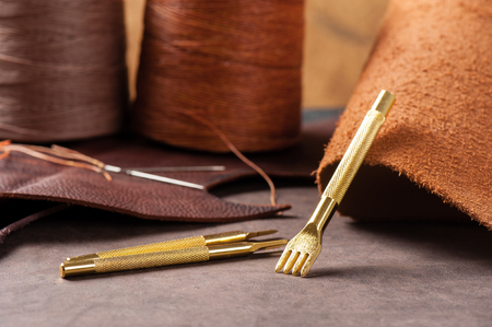 workmanship: The pricking irons for hand stitching leather