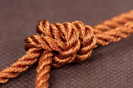closeup polyester rope, Synthetic fibres rope Stock Photo