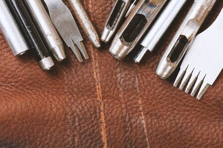 workmanship: variety of punching tools for leather work and DIY