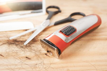 electric hair clipper, electric beard and stubble trimmer