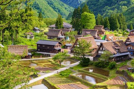 Gassho-zukuri houses in Gokayama Village.