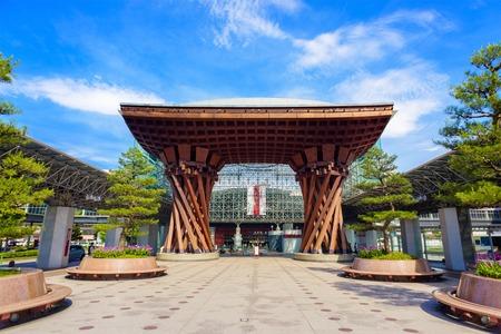 KANAZAWA, JAPAN - MAY 16, 2016: The facade of JR Kanazawa station. Editorial