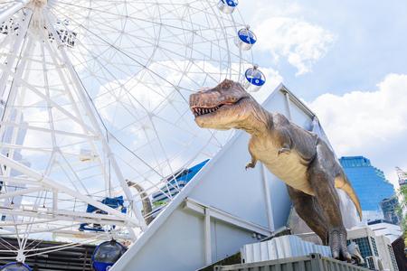 BANGKOK, THAILAND - JULY 21, 2016: Dinosaur in DINOSAUR Planet, a dinosaur theme park in downtown Bangkok, Thailand. Editorial