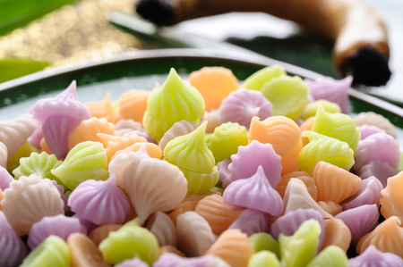 Aalaw or Alua, Thai traditional candy sweet dessert