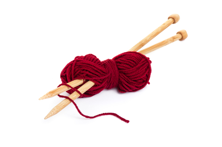 knitting wool and knitting needles, knitting equipment