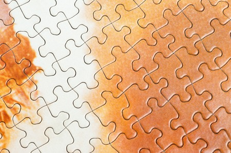 texture of jigsaw puzzle, pattern of jigsaw Stock Photo