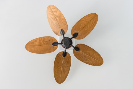 closeup vintage style of ceiling fan, home decoration