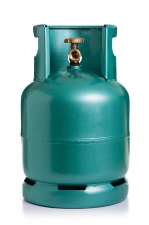 Nouveau cylindre GPL pour la cuisson isolé sur fond blanc Banque d'images - 87633738