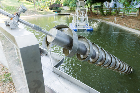The Archimedes screw, Archimedean screw or screwpump, is a machine historically used for transferring water from a low-lying body of water into irrigation ditches.