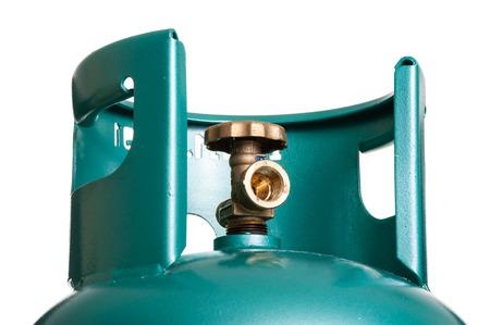 Válvula de primer plano de cilindro de GLP para cocinar Foto de archivo - 87166803