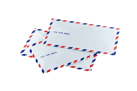 new air mail envelope isolated over white background Stock Photo
