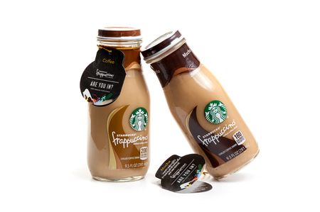 BANGKOK, THAILAND - MARCH 03, 2017: Bottle of Starbucks Frappuccino Coffee drink 9.5 Ounce.
