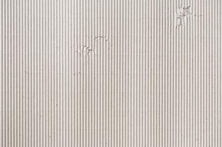 closeup detail of brown corrugated paper. abstract corrugated paper background Imagens