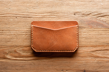 mens leather accessory, handmade vegetable tanned leather minimalist wallet