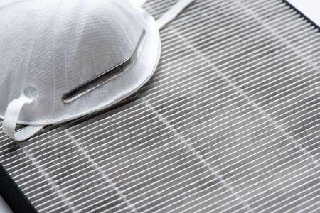 HEPA filter for air purifier. HEPA is High efficiency particulate air filter. Foto de archivo