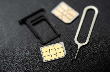 SIM card for smart phone. Changing the SIM card.