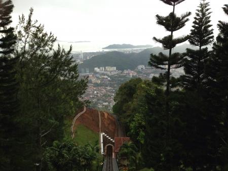 pulau: The real view for Pulau Pinang. Stock Photo