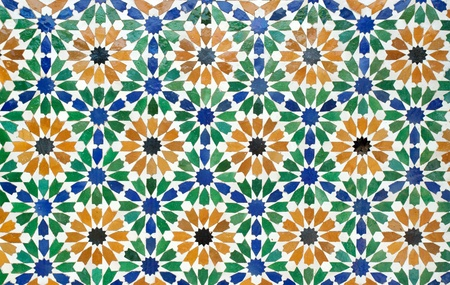 the colorful of morocco tiles Stock Photo