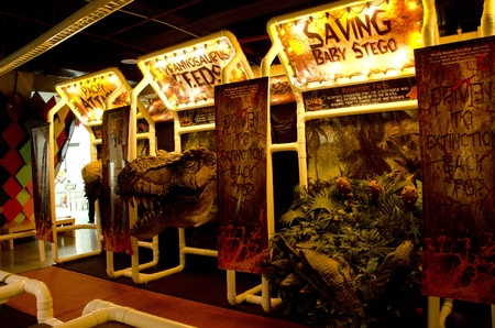 earthly: BUKIT KIARA, MALAYSIA - 20 MARCH : one of the games that available at Dinos Alive 2010 Malaysia Editorial