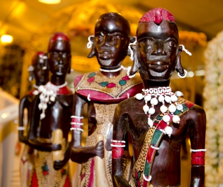 warrior tribal: the native wooden african statue