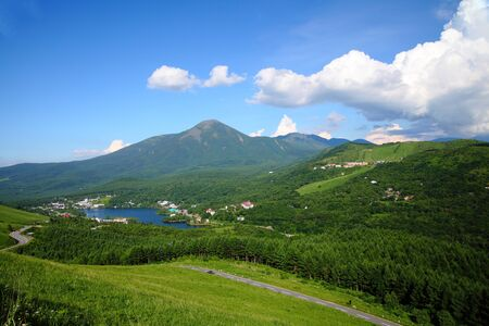 mt.tateshina and shirakaba lake in summer. japan
