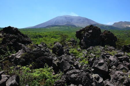 lava and mt. asama Stock Photo - 9881582