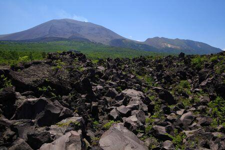 lava and mt. asama Stock Photo - 9881581