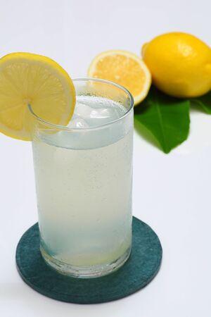 leah: Lemon squash with lemon and leah