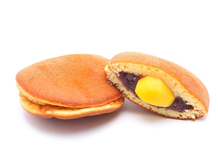 Dorayaki in bean paste and chestnut, Japanese confectionery photo