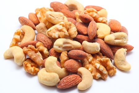mixed nuts: Mixed nuts on white background