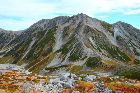 Autumn mountain. Mt.Tateyama in japan