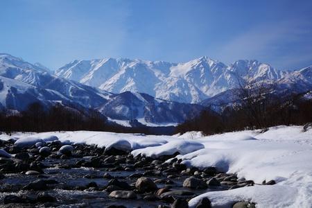 mt: Mt  Shiroumadake, Hakuba village in winter, nagano japan