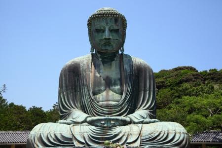 big buddha: Great Buddha of Kamakura, bronze statue in Japan
