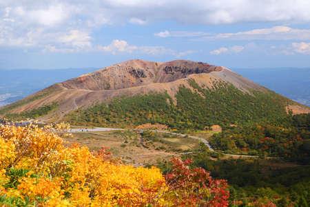 Mt  Azumakofuji of tinted autumn, Fukushima, Japan Stock Photo - 16918692