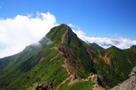 View of Mt  Yatsugatake in summer, Nagano, Japan 版權商用圖片