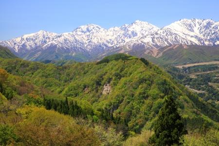 early summer: Japan Alps of early summer, Nagano, Japan