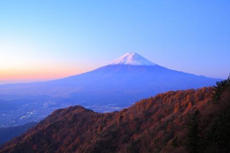 Daybreak at the Mt. Fuji, Yamanashi, Japan photo