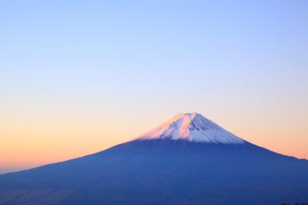 Daybreak at the Mt. Fuji, Yamanashi, Japan Stock Photo - 23794028