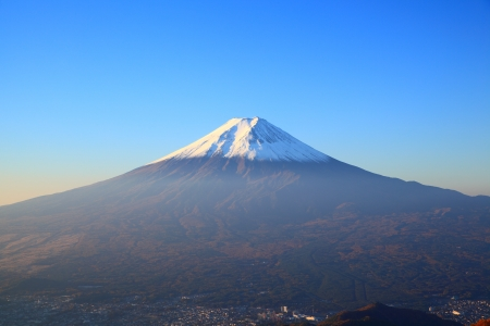 Mount Fuji of the morning, Yamanashi, Japan photo