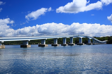 ishikawa: Blue sky and bridge, Notojima oohashi, Ishikawa, Japan