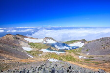 crater lake: Crater lake of Mt. Norikura, Gifu, Japan