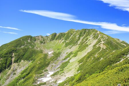 carl: Southern Alps Mt. Senjougatake, Yamanashi, Japan Stock Photo