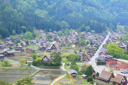 gifu: World heritage site Shirakawago, Gifu, Japan Stock Photo
